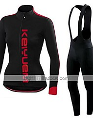 KEIYUEM®Spring/Summer/Autumn Long Sleeve Cycling Jersey+long Bib Tights Ropa Ciclismo Cycling Clothing Suits #L46