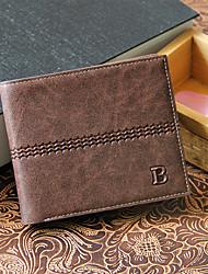 Herren PU Alltag Brieftasche Blau / Schwarz / 8 #