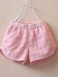 Mädchen Shorts-Lässig/Alltäglich einfarbig Baumwolle Sommer Rosa / Weiß