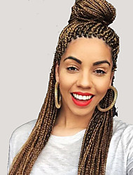 "BOX Braids 24"" Synthetic crochet box braids hair extension High quality twist style braids for black woman"
