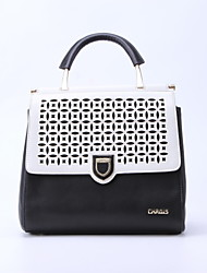 CHROIS New Design Pu Leather Handbag Black-White Simple Shoulder Bag Fashion Quality Backpack