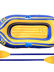 2 People Thickening Inflatable Boat Rubber Boat Fishing Kayak Paddle Set PVC Hovercraft Air-Cushion Vessel