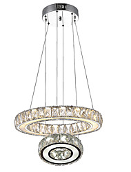 LED Ring Crystal Pendant Light Hanging Lamp Fixtures with D2040CM 27W CE FCC ROHS