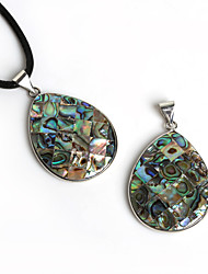 Beadia 32x41mm Water Drop Shape Natural Mother of Pearl Abalone Shell Pendant (1Pc)