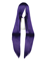 Cosplay Wigs Cosplay Yasuhara Ema Purple Long Anime Cosplay Wigs 100 CM Heat Resistant Fiber Male / Female