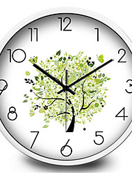 Fresh Garden Leaves Small Bedroom Creative Mute Quartz Wall Clock