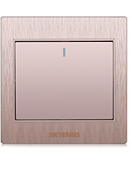 Plastic Wall Switch Socket Champagne Gold Brushed