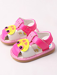 Girl's Sandals Spring / Summer First Walkers Leather Dress / Casual Peach
