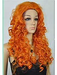 "Cosplay Wig MERIDA BRAVE Movie Disguise 24"" Long Orange Curl Hair Cosplay Wig"