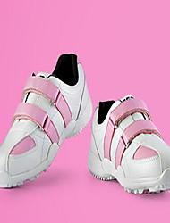 Sapatos Golfe Para Meninas Rosa / Branco Borracha