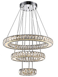 LED Indoor Lighting Chandeliers Crystal Pendant Lamp Modern Fashion Newest LED Fixtures with 3Ring D204060CM CE FCC ROHS