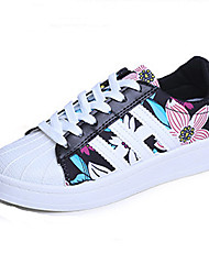 2016 New Arrivals Women's Shoes Best Seller Flange Print Platform Comfort Fashion Sneakers Outdoor / Casual Black / White
