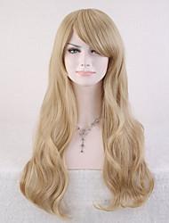 perruque synthétique bouclés naturel capless couleur blond de haute qualité