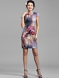Baoyan® Mujer Escote Chino Sin Mangas Sobre la Rodilla Vestidos-150298