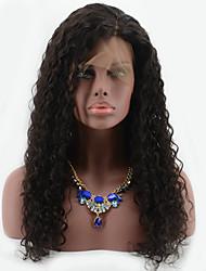 humide profonde cheveux bouclés brazilian pleine perruque de dentelle 8 '' - 26 '' avant de dentelle de perruques de cheveux humains pour