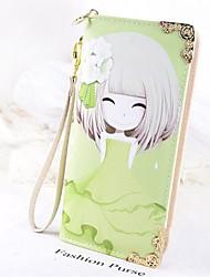Feminino PVC Casual / Ao Ar Livre Carteira Branco / Bege / Rosa / Roxo / Verde