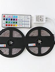 10m (2 * 5m) 3528 300leds rgb 44keys ir controllo remoto flessibile led strips luce (dc12v)