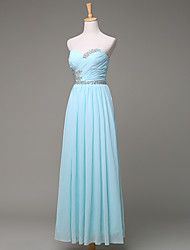 Formal Evening Dress A-line Sweetheart Floor-length Chiffon with Beading