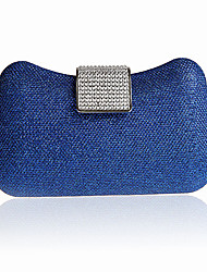 Women PVC / Satin / Glitter Casual / Event/Party / Wedding Evening Bag Blue / Red / Fuchsia