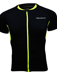 SPAKCT® Cycling Jersey Men's Short Sleeve Breathable / Quick Dry / Reflective Trim/Fluorescence Bike Tops 100% Polyester Classic / Sports