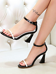 Women's Shoes Leather Stiletto Heel Heels Sandals Party & Evening / Dress White
