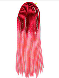 Rot Havanna Dread Locks Haarverlängerungen 20 inch Kanekalon 20 roots Strand 100g Gramm Haar Borten