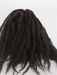 Crochet coquin Afro Kinky Tresses Extensions de cheveux Kanekalon Cheveux Tressée