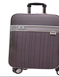 Unisex Outdoor PVC Luggage Coffee / Gray 22Inch