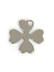 Amuletos Metal Leaf Shape como Imagem 50Pcs
