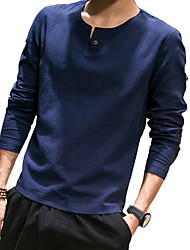 China wind coat sleeve head men's cotton linen long sleeved t-shirt men fall slim T-shirt DP