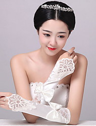 Elbow Length Fingerless Glove Spandex Bridal Gloves / Party/ Evening Gloves Spring / Summer /