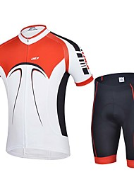 Sports Cycling Jersey with Shorts Men's Short Sleeve Bike Breathable / Sweat-wicking Jersey + Shorts / Tops / Bottoms ElastaneSpring /