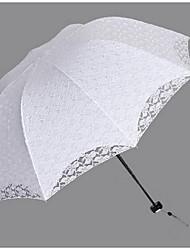 Hochzeit / Alltag Spitzen Regenschirm Post-Handle ca.55cm Kunststoff ca.88cm