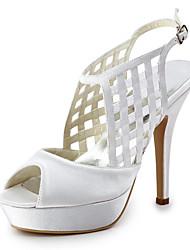 Women's Shoes Silk Wedge Heel Heels / Peep Toe Heels Wedding / Party & Evening / Dres Yellow / Pink / Purple  / White