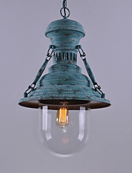 Painting Vintage Green Color Metal Industrial Pendant Lamp for the Entry / Foyer / Hallyway Decorate Pendant Light