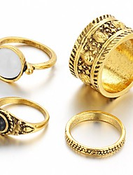 Multi Finger Ring Vintage Luxury Ring Sets for Women Gold Silver Plated(4pcs/set)