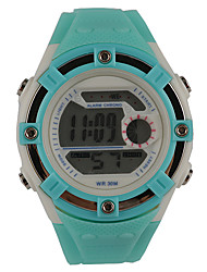 Women's Fashion Watch Digital Watch Water Resistant / Water Proof Noctilucent Digital Plastic Band Casual Green