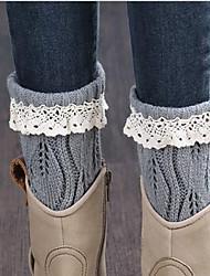 Women Medium Stockings,Acrylic / Lace / Polyester