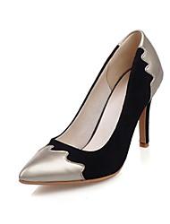 Damen-High Heels-Büro / Kleid / Party & Festivität-Samt / Lackleder-Stöckelabsatz-Absätze / Pumps / Spitzschuh-Schwarz / Rosa / Königsblau