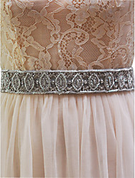 Elastic Satin Wedding Sash-Beading Women's 98 ½in(250cm) Beading