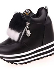 Women's Shoes PU Winter Wedges Heels Casual Wedge Heel Others Black / Red / White
