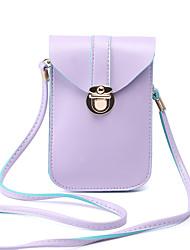 Femme Polyuréthane Décontracté Mobile Bag Phone Rose / Violet / Noir