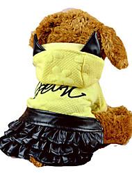Gatos / Perros Disfraces Rosado / Amarillo Invierno / Primavera/Otoño Animal Halloween, Dog Clothes / Dog Clothing-Other