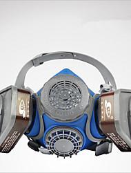 st-m60 cabeça dupla máscara de gás filtro cartucho usando pó de sílica gel tipo e spray químico máscara de proteção da pintura