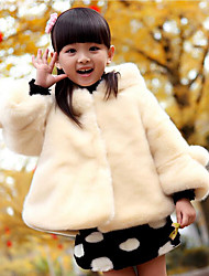 Girl's Casual/Daily Solid Jacket & Coat,Polyester Winter Red / White