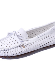 Women's Shoes Leatherette Spring / Fall Comfort / Round Toe Flats Outdoor / Office & Career / Casual Low Heel Bowknot
