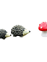 Moss Micro Landscape Ewelry Cartoon Hedgehog Three Pieces of DIY Small Accessories