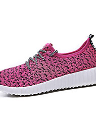 Women's Shoes Tulle Spring / Fall Round Toe Fashion Sneakers Outdoor / Work & Duty / Athletic / Casual Flat H