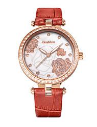 Bestdon® Lady Schoolgirl Rhinestone Water Resistant Japanese Quartz Fashion Vintage Leather Wristwatch