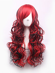 Black/Red Lolita Harajuku Ombre Wig Synthetic Wigs Pelucas Pelo Natural Manic Panic Cheap Anime Cosplay Wig Perruque